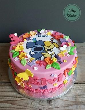 taart decoratie woezel en pip